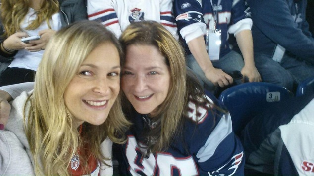 At the Patriots game
