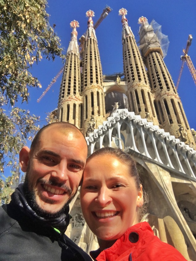 Birthday run with views of Sagrada Familia