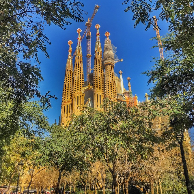 View of Sagrada from park