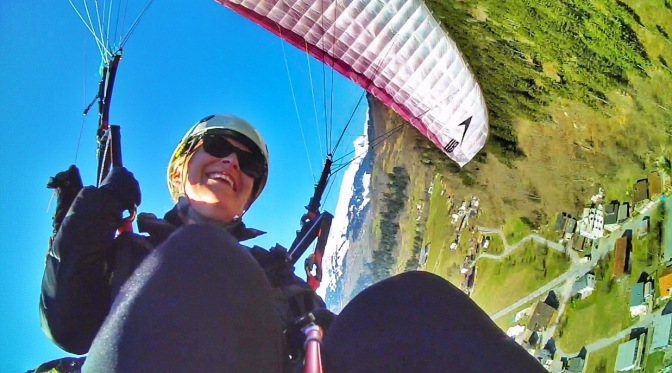 First time paragliding