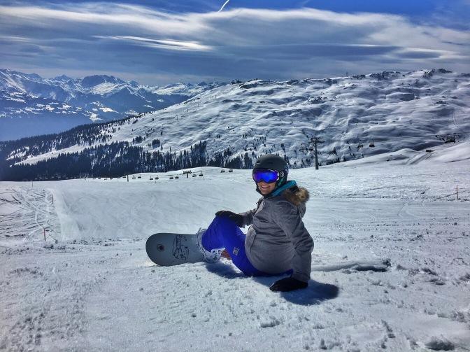 Snowboarding at Laax
