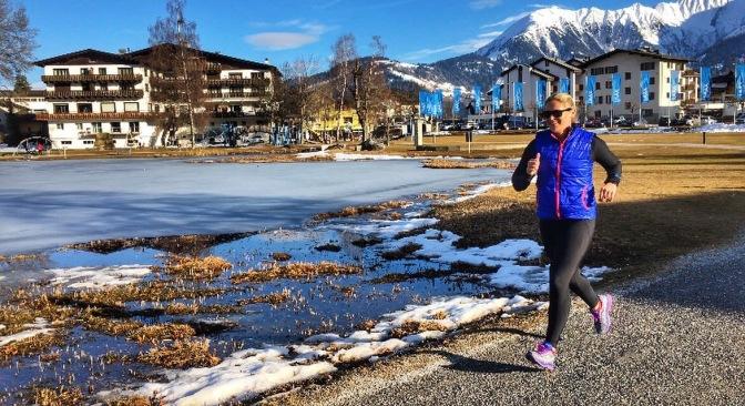 Running around the lake