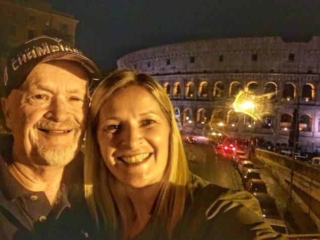 My dad and I in front of the colosseum