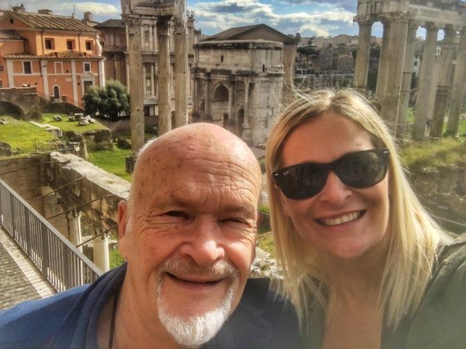 Dad and I at the ruins