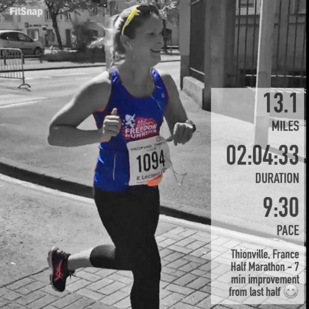 Thionville Half Marathon Finish