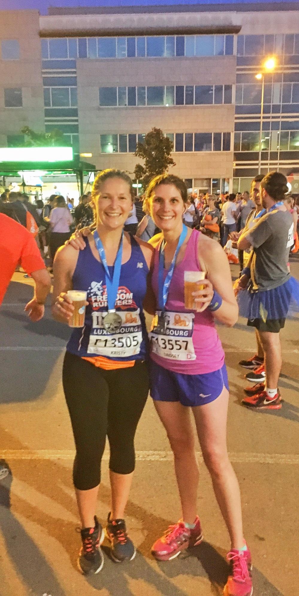 Finishing half marathons deserves a beer or two