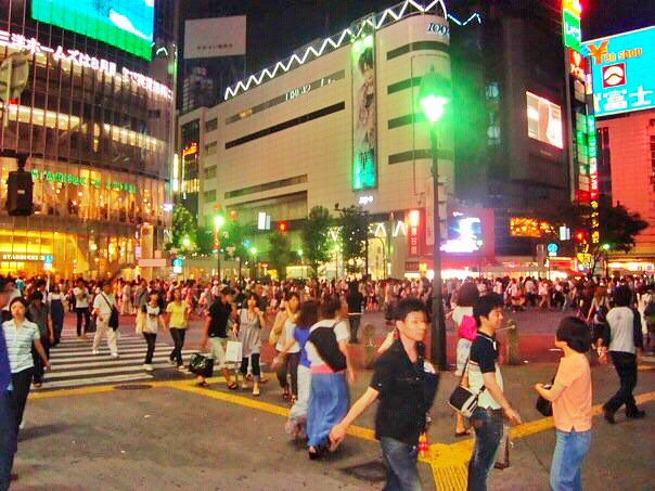 Famous Shibuya Crossing