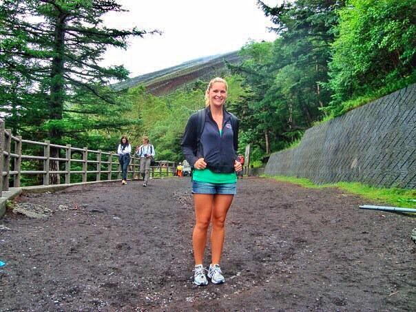 Hiking up Mt. Fuji