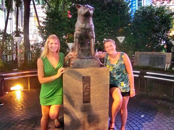 Hachikō, the loyal dog and a couple of other Huskies